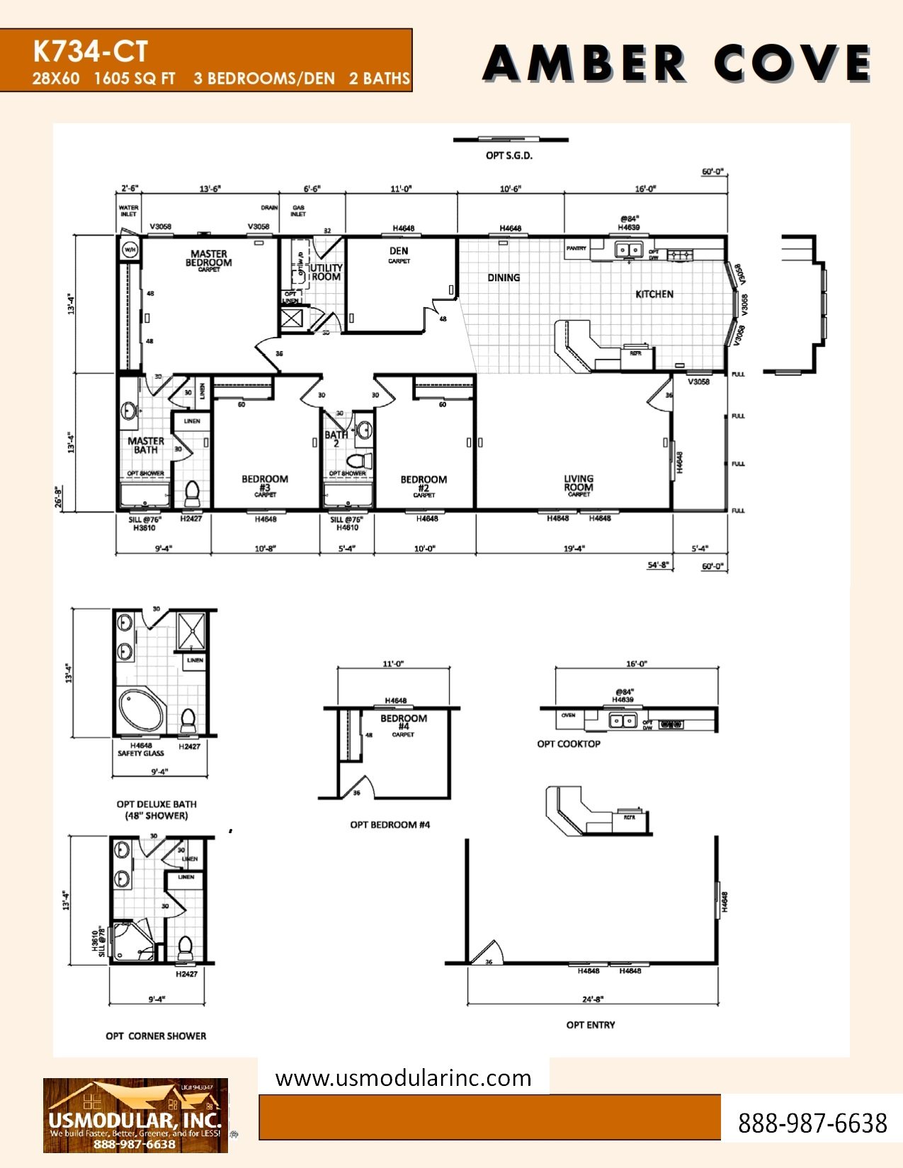 Pre designed floor plans usmodular inc modular home for Ready built homes floor plans