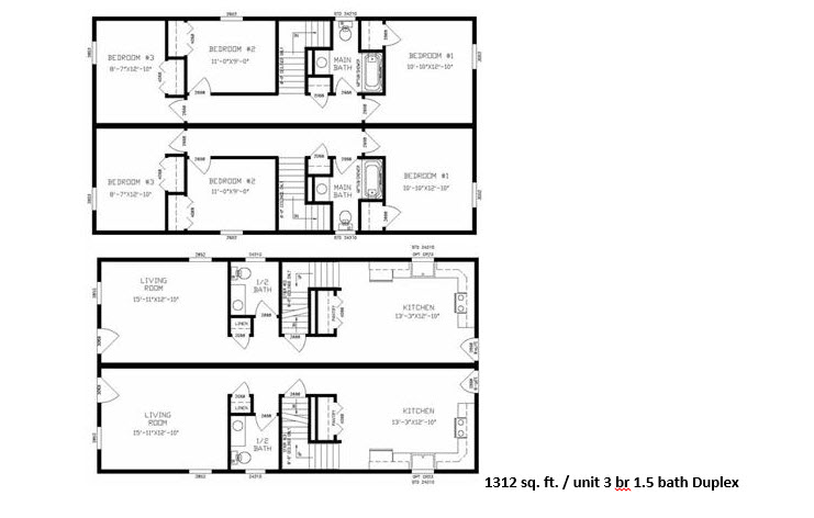 Modular floor plans us modular inc california builders for Modular duplex prices