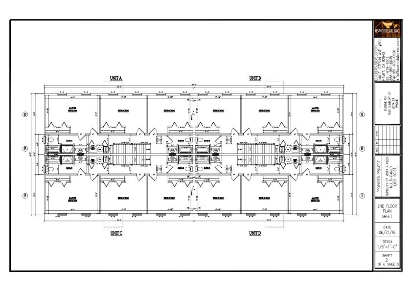 Vista four plex multi family project for 4 plex apartment floor plans