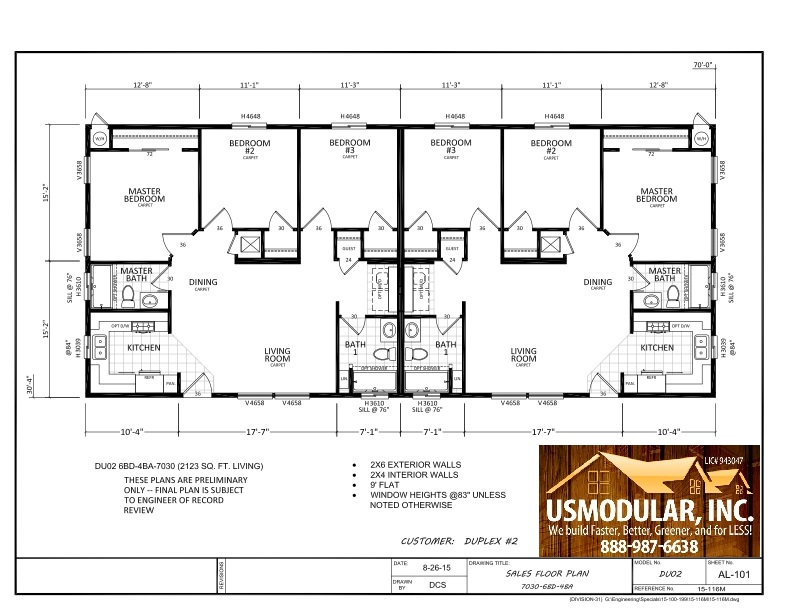 Pre designed floor plans usmodular inc modular home for Modular duplex floor plans