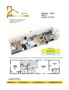 Acoma 2 Bed 2 Bath 868 SF