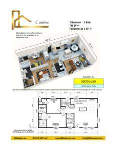 Catalina 2 Bed 2 Bath 786 SF